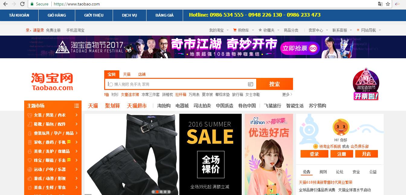 Dịch vụ mua hàng từ Trung Quốc